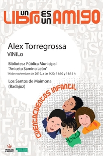 Alex Torregrossa visitará la biblioteca de Los Santos de Maimona para presentar su espectáculo de Cuentos Vinilo