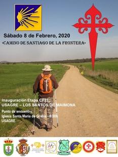 La etapa que une Usagre con Los Santos de Maimona del Camino Jacobeo de la Frontera se inaugura el 8 de febrero