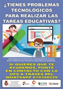 La Universidad Popular Santeña ofrece apoyo a familias para el uso de herramientas tecnológicas