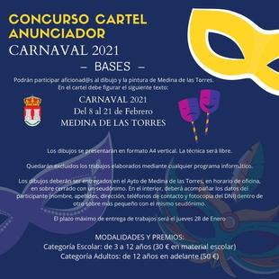 Medina de las Torres abre el concurso para el cartel anunciador del Carnaval 2021