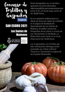 Convocado el concurso de gazpachos y tortillas en Los Santos de Maimona con motivo de San Isidro a través de fotos por facebook