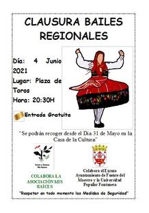 Este próximo viernes se clausura el curso de Bailes Regionales de la Universidad Popular Fontanesa