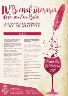 Convocada la cuarta edición de la `Bienal Literaria de la Uva Eva Beba – Los Santos Cuna de Artistas´