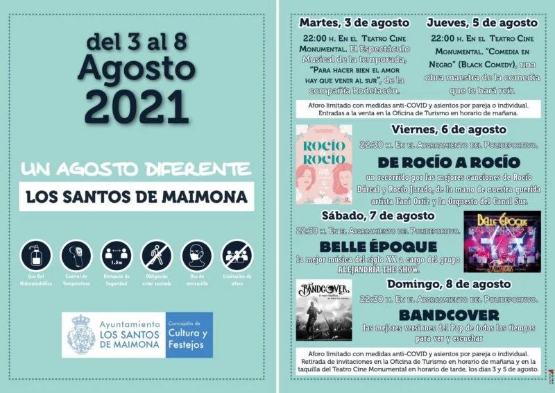 Dos teatros y tres conciertos centran la primera semana de agosto en Los Santos de Maimona