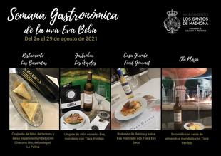 La Semana Gastronómica de la Uva Eva-Beba se celebra del 20 al 29 de septiembre en Los Santos de Maimona