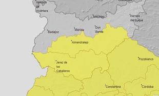 La comarca en aviso amarillo por tormentas a partir del mediodía de hoy