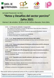La Junta de Extremadura organiza una jornada técnica en Zafra sobre `Retos y desafíos del Sector del Porcino Ibérico´