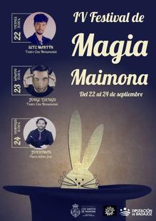 El IV Festival de Magia Maimona contará con Jorge Luengo, Sete Martín y Jórdiman