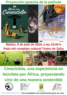 Cinecicleta de nuevo en Zafra con Princesa de África