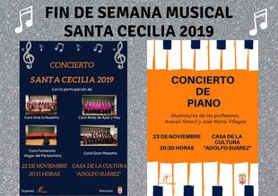 Fuente del Maestre disfrutará de un fin de semana musical por Santa Cecilia