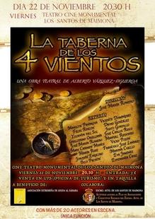 La Taberna de los Cuatro Vientos cierra este viernes en Los Santos el ciclo de teatro solidario de la Asociación de Ayuda al Sahara