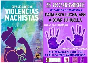 El Ayuntamiento de Los Santos se suma a la campaña por el Día Mundial contra la Violencia de Género