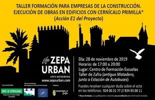 Zafra acogerá un taller para empresas de la construcción que ejecutan obras en edificios con cernícalos primilla