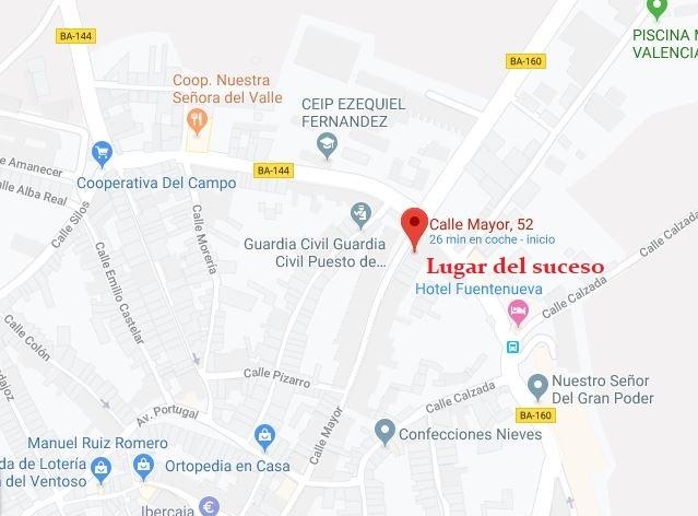 Herida leve una mujer intoxicada por humo en el incendio de una vivienda en Valencia del Ventoso