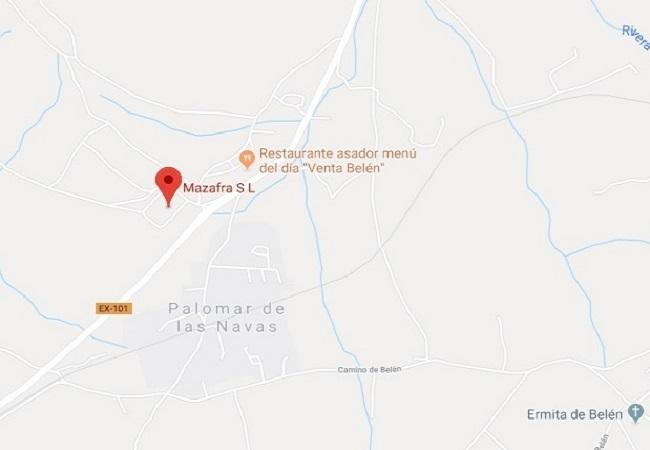 Un varón sufre trauma craneal en un accidente laboral al caerse desde una cabina de un camión en Zafra