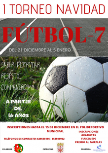 Fuente del Maestre organiza el primer torneo de Navidad de fútbol 7