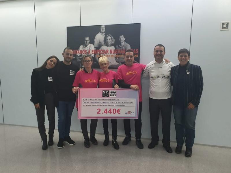 Aitor Forever entrega una donación de 2.440 euros al Institut Guttmann