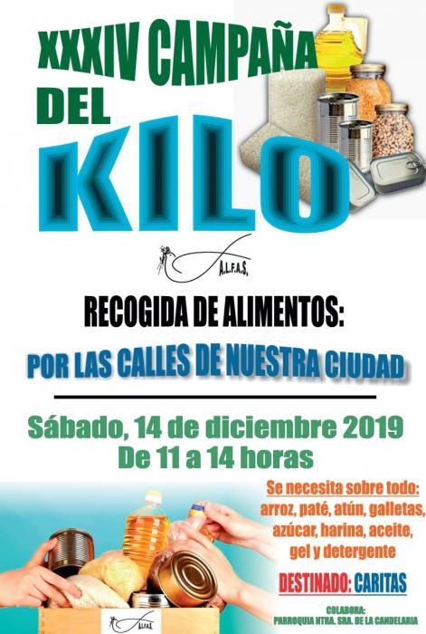 Este sábado llega a Fuente del Maestre la XXXIV Campaña del Kilo