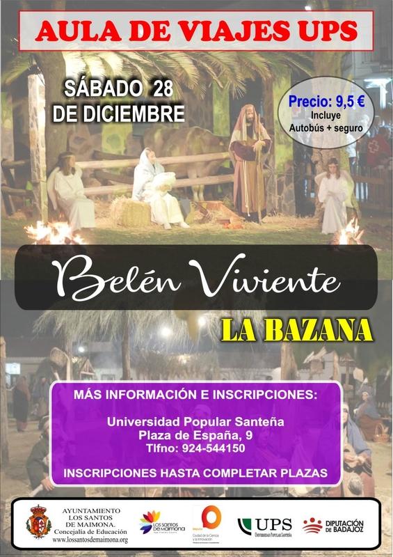 La Universidad Popular Santeña organiza un viaje al Belén Viviente de La Bazana