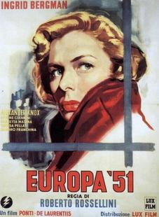 La Película `Europa 51´ se proyectará hoy  en Fuente del Maestre