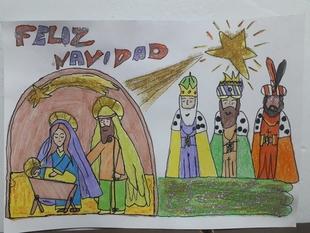 El dibujo de Ismael González del CEE Antonio Tomillo gana el Concurso de Dibujos Navideños del Castellar