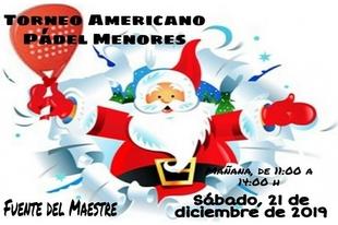 El Patronato Municipal de Deportes de Fuente del Maestre organiza varios torneos de pádel para estas navidades