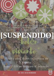 Suspendido el Belén Viviente del domingo 22 en Fuente del Maestre