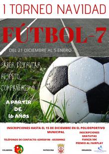 Hoy comienza en Fuente del Maestre el I Torneo de Navidad de Fútbol-7 Senior (Consulta los horarios de los partidos)
