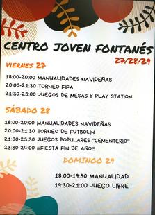 Actividades para este fin de semana en el Centro Joven fontanés