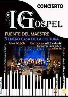 Fuente del Maestre acogerá un concierto de Coro Illusion Góspel en la Casa de la Cultura