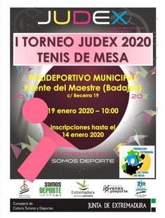 Fuente del Maestre acogerá este domingo el I Torneo JUDEX de Tenis de Mesa