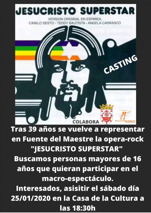 La ópera-rock `Jesuscristo Superstar´ volverá a Fuente del Maestre 39 años después