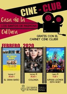 Comedia, drama y aventuras en el cine club de febrero en Los Santos de Maimona