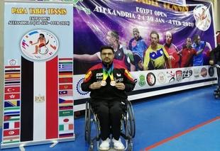 El fontanés Francisco Javier López consigue dos medallas de bronce en el Open Internacional de Tenis de Mesa en Egipto