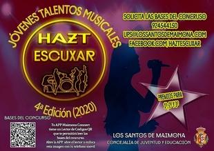 `Hazt Escuxar´: El Ayuntamiento de Los Santos de Maimona lanza la IV edición de este concurso para jóvenes talentos musicales