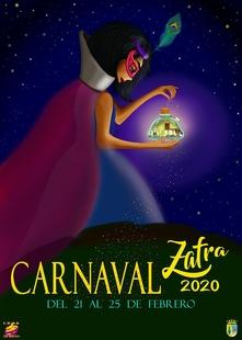 La obra `Espíritu de Carnaval´ ganadora del Concurso del Cartel Anunciador del Carnaval 2020 en Zafra
