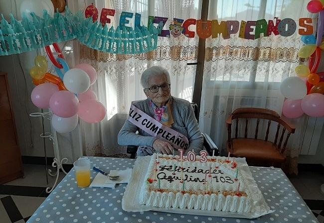 La fontanesa Aquilina Montes Torrescusa celebró su 103 cumpleaños