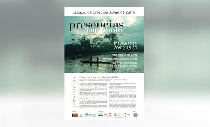 Una muestra en Zafra repasa la defensa de los derechos humanos en Colombia por parte de Brigadas Internacionales de Paz