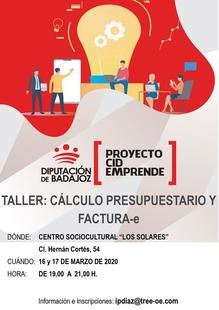 Valencia del Ventoso acoge un taller de cálculo presupuestario y factura-e  para el pequeño comercio local