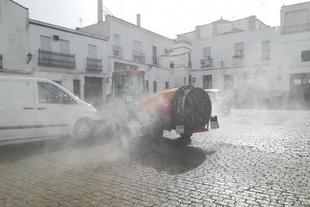Este miércoles 1 de abril se desinfectarán las calles de Fuente del Maestre