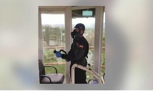 Las calles y residencia de Medina de las Torres serán desinfectadas por miembros de la UME y de la Diputación de Badajoz