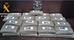 Un detenido en el término de Puebla de Sancho Pérez con más de 3,5 kilos de hachís que transportaba a Plasencia
