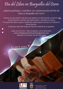 Burguillos del Cerro celebrará el Día Internacional del Libro, desde casa