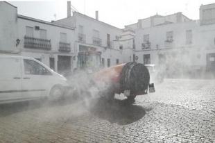 Las calles de Fuente del Maestre serán desinfectadas hoy y el próximo sábado 2 de mayo