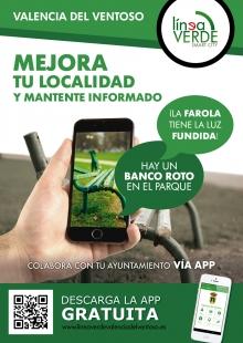 El Ayuntamiento de Valencia del Ventoso implanta el servicio `Línea Verde´ para comunicar incidencias desde el móvil