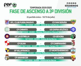 Zafra, La Estrella y Belenense ya conocen sede, fecha y lugar para sus partidos de fase de ascenso