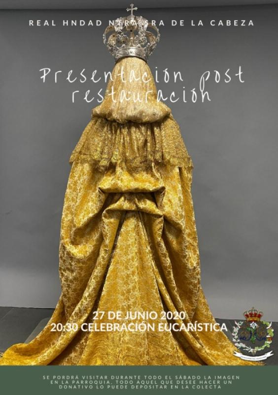 Este sábado tendrá lugar la presentación post-restauración de la Virgen de la Cabeza en Fuente del Maestre