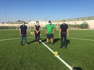 Inaugurado el campo de fútbol de césped artificial en Zafra y comienzo del Campus de Fútbol