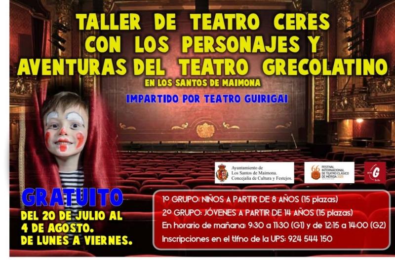 Los talleres Ceres, del Festival del Teatro Clásico de Mérida, llegan a Los Santos de Maimona