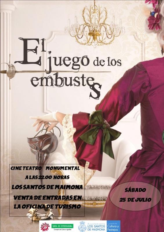 Llega al Teatro-Cine Monumental de Los Santos de Maimona la comedia teatral El Juego de los Embustes